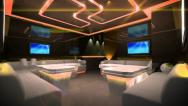 Led light of Cyber Club Room Stock Footage