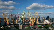 Stock Video Footage of Odessa sea trading port activity timelapse (Full HD)