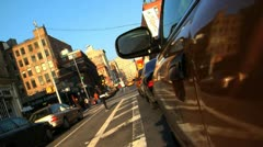351 Manhattan street shot from cab Stock Footage
