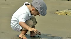 Baby play with sand 2 Stock Footage