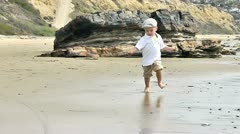 Baby on the beach 2 Stock Footage