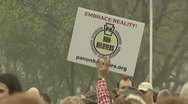 Atheists attend the Reason Rally in Washington, D.C. Stock Footage