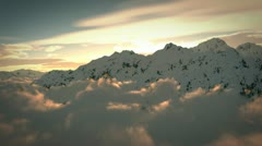 Fly over mountains Stock Footage
