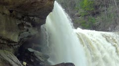 Cumberland Falls Shot 2 HD Flood Stage Close Stock Footage