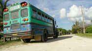 Stock Video Footage of Faith Bus in Belize