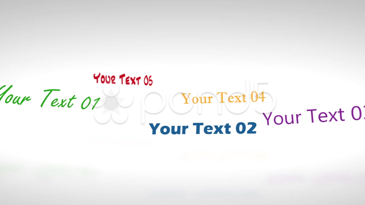 After Effects Project - Pond5 Rotative Texts Display 10849834