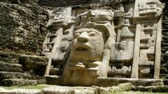 Mayan Temple at Lamanai Stock Footage