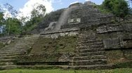 Pan of Mayan Temple Stock Footage