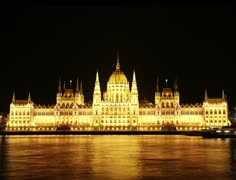 4K Budapest Hungarian Parliament Night Timelapse Stock Footage