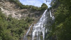 Waterfall tilt down view Stock Footage