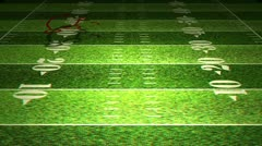 American Football Tactics 03 Stereoscopic 3D Anaglyph red blue Stock Footage