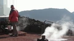 Volcanic geyser Stock Footage