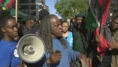 Angry black nationalists want justice for the murder of Trayvon Martin Stock Footage