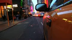 365 Traffic jam in west 45th street Manhattan Stock Footage