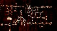 Chemistry v1 02 Stereoscopic 3D Anaglyph red blue Stock Footage