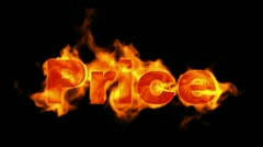 Burning price text,hot sale. Stock Footage