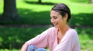 Happy woman enjoying the nature Stock Footage