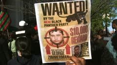 WANTED POSTER by Black Panthers - stock footage