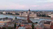 Stock Video Footage of Budapest. Above view. Parlament