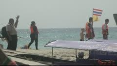 Krabi, Thailand - Tourists On Beach 01 Stock Footage