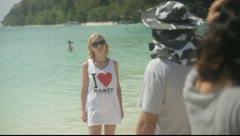 Krabi TouristsOnBeach03 Stock Footage