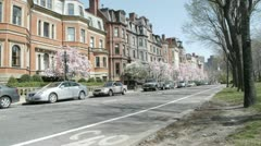 Commonwealth Avenue Stock Footage
