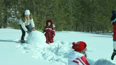 Winter activities Stock Footage