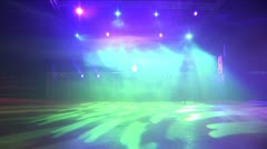 Empty Club with lights and fog. 1920:1080P 50Frs - stock footage