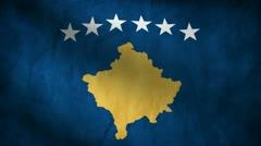 Kosovo flag. Stock Footage