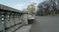 Stone Bench Esplanade Stock Footage
