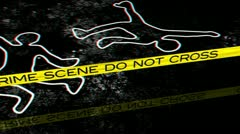 Crime Scene 02 Stereoscopic 3D Anaglyph red blue Stock Footage