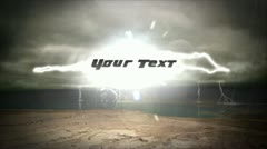 Lightning Text - stock after effects