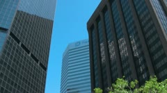 16th Street Mall Pan down from Denver World Trade Center - stock footage