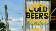 Stock Video Footage of Lazy Lizard Bar Caye Caulker Belize