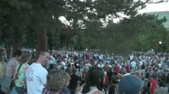4th of July Crowd Denver Civic Center pan across - stock footage