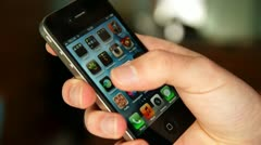 Browsing apps iPhone Stock Footage
