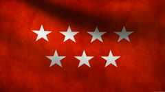 Madrid flag. Stock Footage