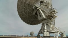 VLA Satellite Dish Back View Stock Footage