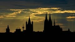 Germany Cologne Cathedral sunbeams - stock footage