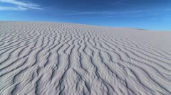 White Sands National Monument Hiker Stock Footage