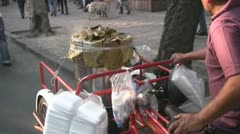 Mexico city seller - stock footage