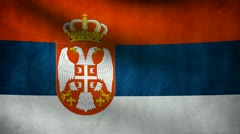 Serbia flag. Stock Footage