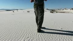 Sand Footprints Stock Footage