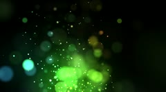 Bright green points coming up Stock Footage