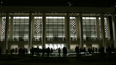 Avery Fisher Hall at Lincoln Center by night. Stock Footage