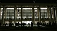 Stock Video Footage of Avery Fisher Hall at Lincoln Center by night.