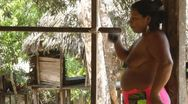 Stock Video Footage of Embera Tribe Woman