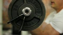 Man Barbell Curl - stock footage