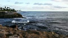 Shore of Oahu Hawaii - stock footage