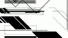 Abstract Random Mono Graphic Elements Version 4 of 4 HD - stock footage